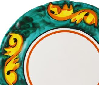 Barocco ( fregio giallo su fondo colorato )