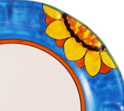 Girasole ( girasole giallo su fondo colorato )