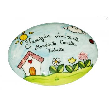 Targhette In Ceramica Per Porte.Targhetta Fuori Porta Ceramiche Vietri