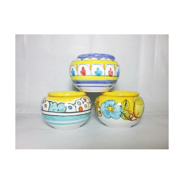 Porta piante a testina - varie misure - Ceramiche Vietri